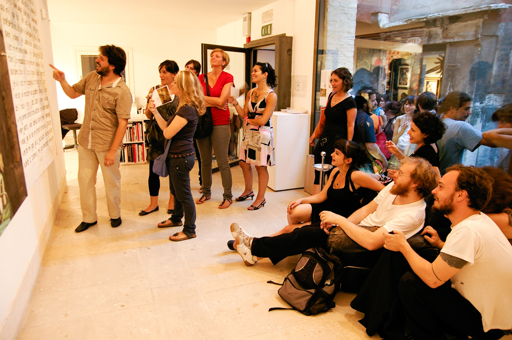 Curatorial Studies Venice with artists and students in A plus A Gallery